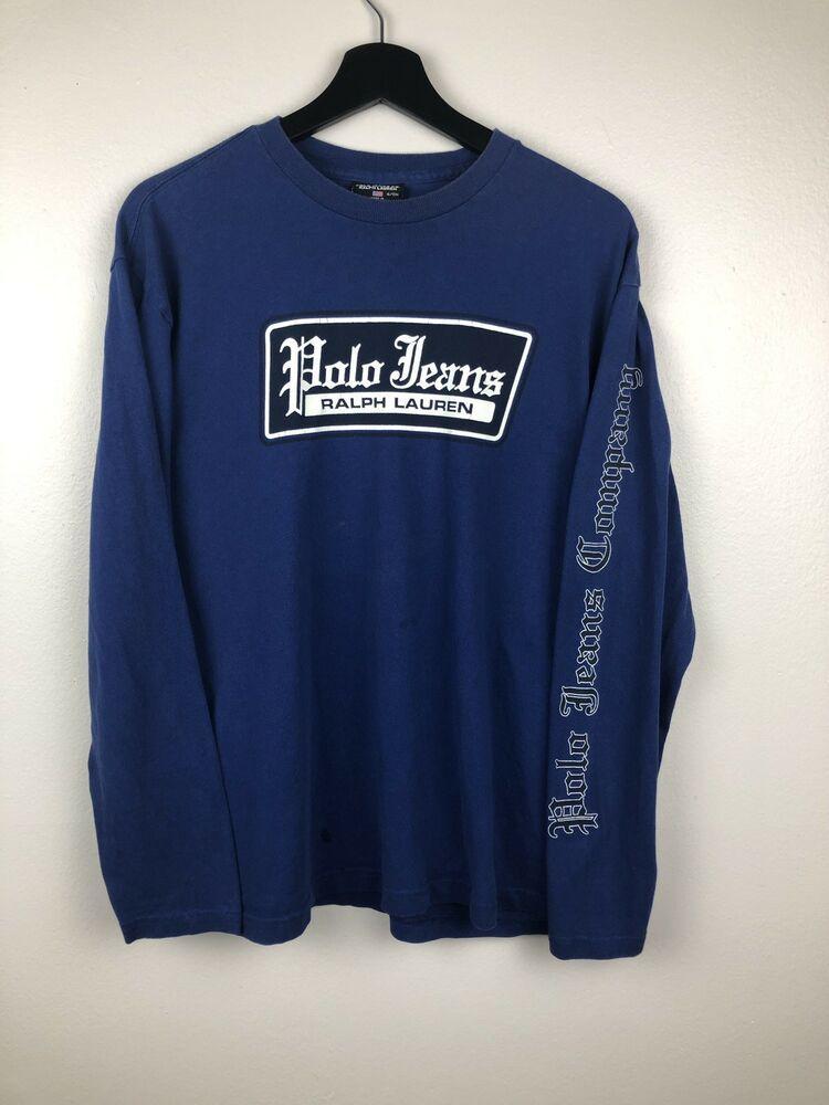 Polo Jeans Company Longsleeve Shirt Blue Size S Long Sleeve