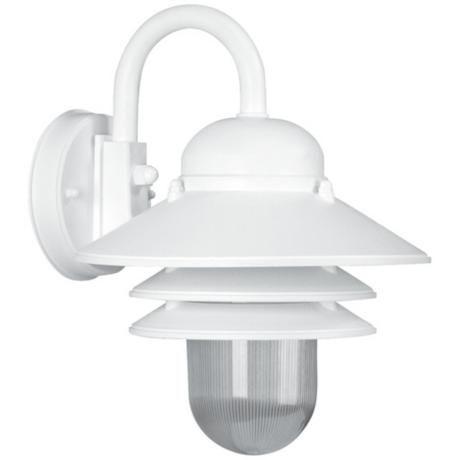 "White Outdoor Lights Marlex Nautical 13"" High White Outdoor Wall Light  Nautical Wall"