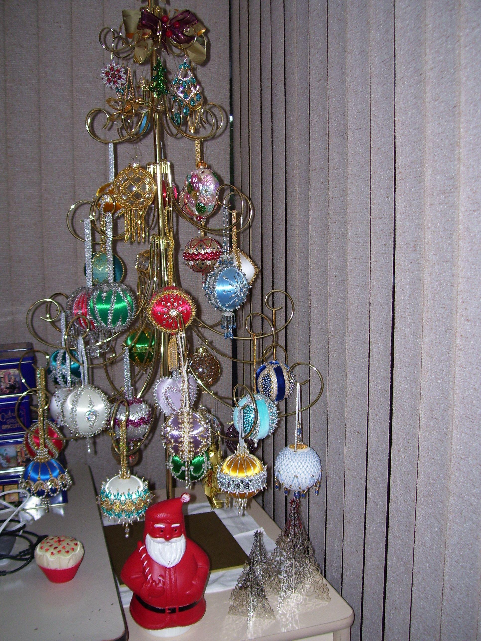 Handmade Beaded Ornaments on Brass Tree - 2012