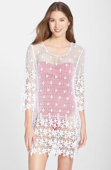 cbf3ac3027 J Valdi Crochet Cover-Up Tunic available at #Nordstrom | Crochet ...