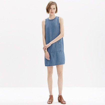 0e19332763 Madewell - Denim Sleeveless Mini Dress