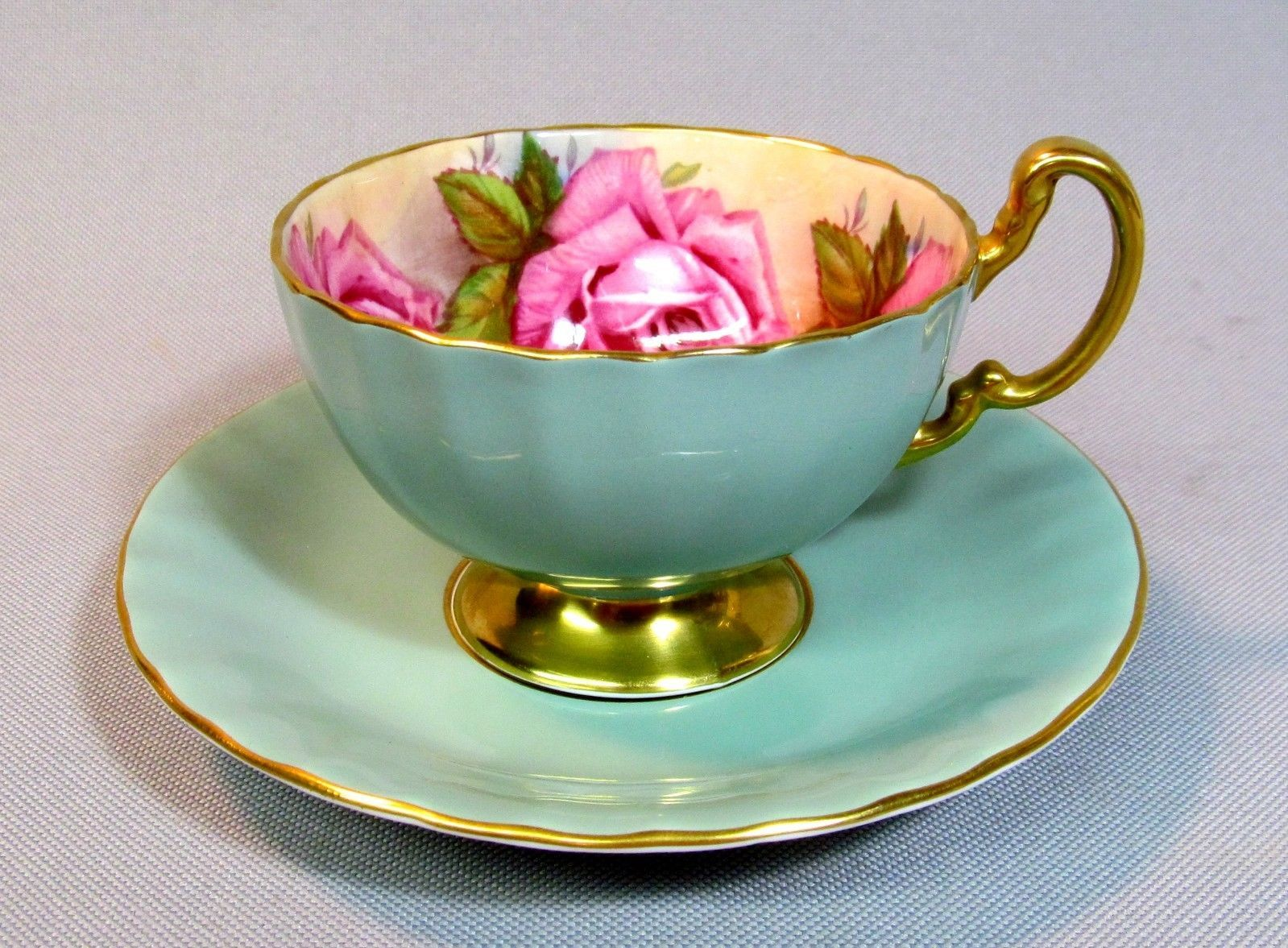 Aynsley Cup and Saucer with roses