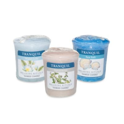 Yankee Candle® Relaxing Rituals™ Votive Candles and Tri-Votive Candle Holder - BedBathandBeyond.com