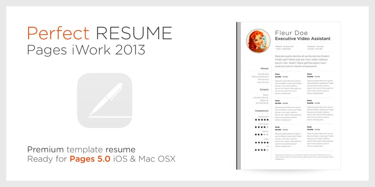 resume templates for mac computer
