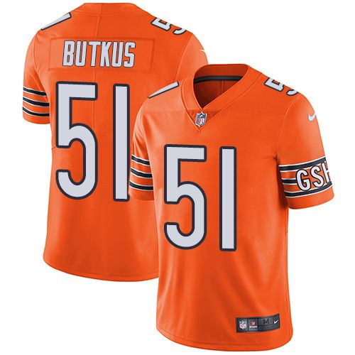 giants lawrence taylor jersey nike bears 51 dick butkus orange mens stitched nfl limited rush