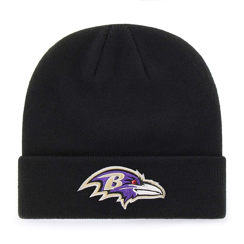 OTS NFL Baltimore Ravens Raised Cuff Knit Cap 2fc17b1cb