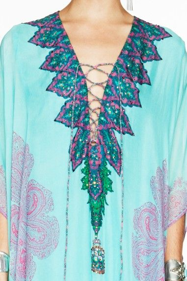 how to wear camilla short lace up kaftan