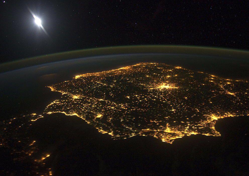 España iluminada.