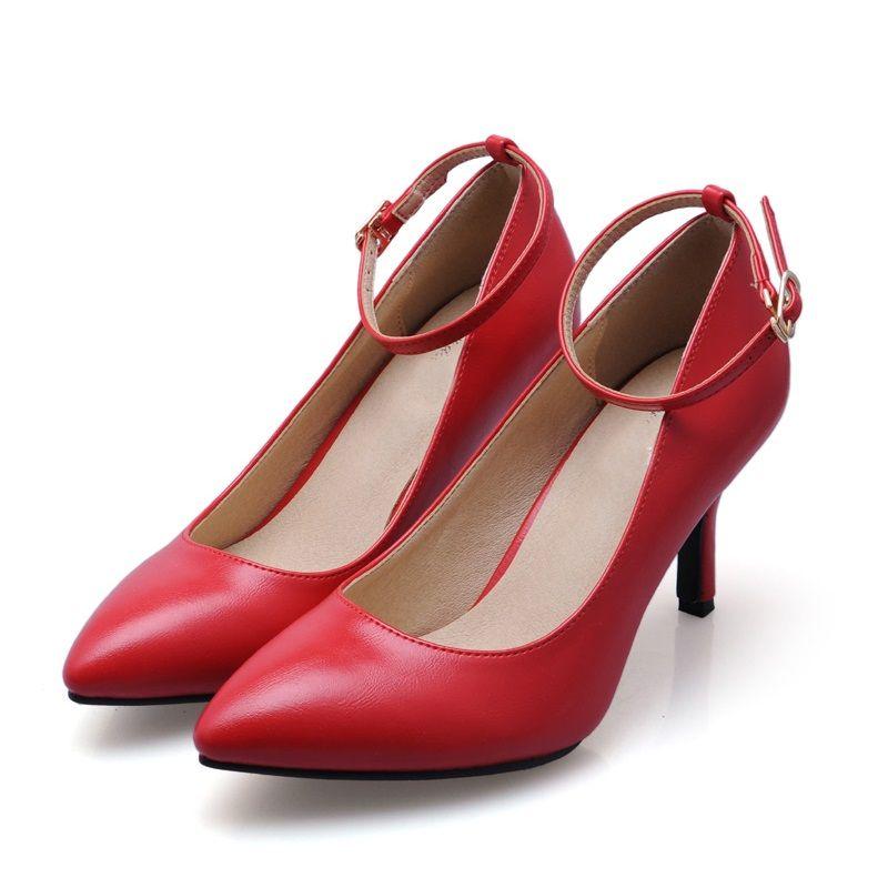 383a5f2afb6 2017 Size 33-41 Sheepskin Red Sexy Pointed Toe Chaussure Femme Talon Women  Pumps Ladies. Women s PumpsHigh Heel ...