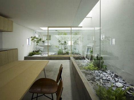 Japanese House with Internal Garden Room stylish houses japanese ...