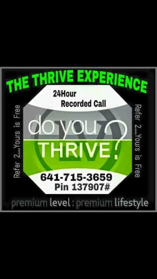 Listen to this call and you will know why Thrive is the next hottest brand name !!  www.foust03.le-vel.com