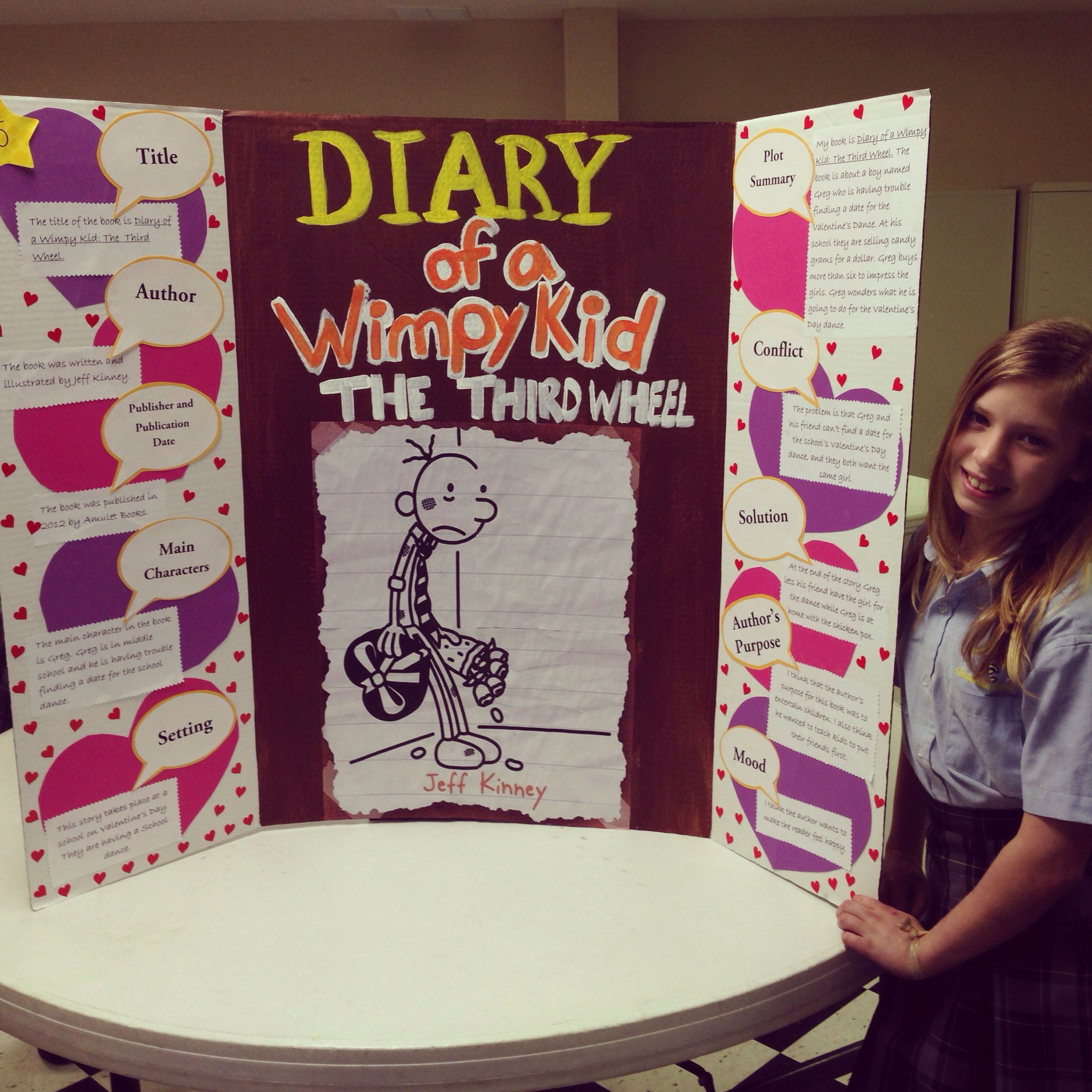 Emmas Reading Fair Project Diary Of A Wimpy Kid The Third Wheel