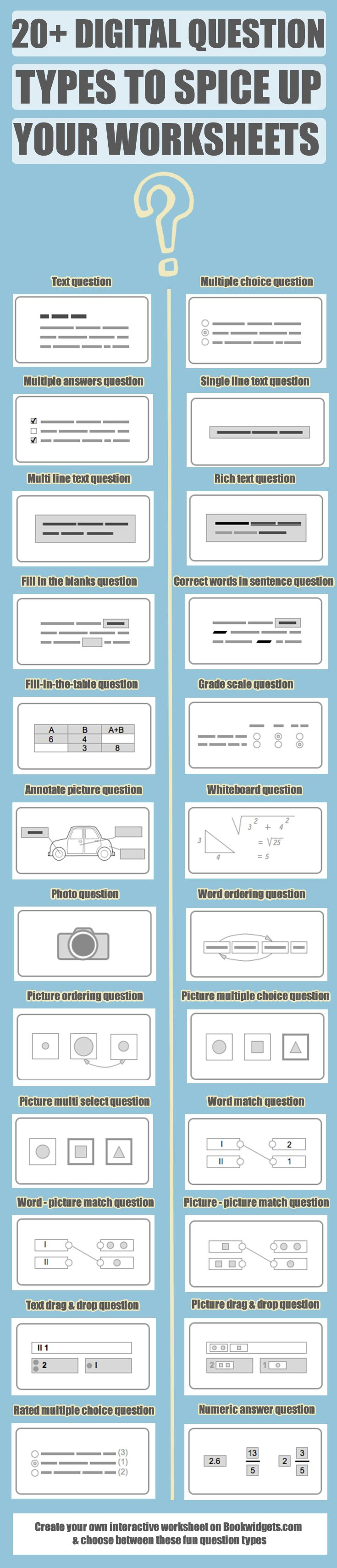 20+ digital question types teachers can use to engage students ...
