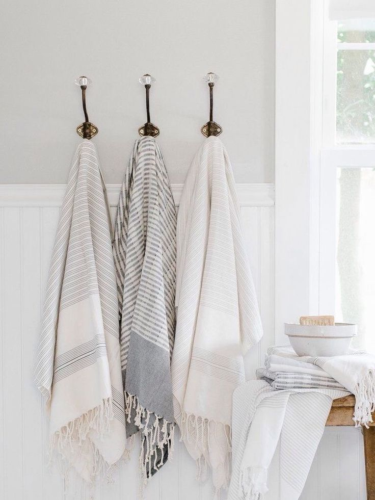 astounding calming modern minimalist bathroom white | Calming pale turkish towels in this minimalist white ...