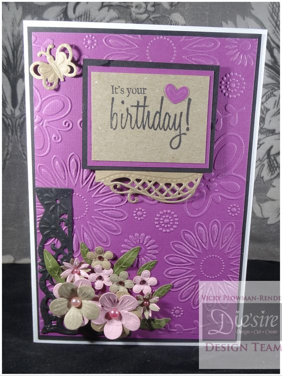 5x7 Card Using Crafters Companions Gemini Embossing Folder And Dies Designed By Vicky Plowman Render Crafterscompanion