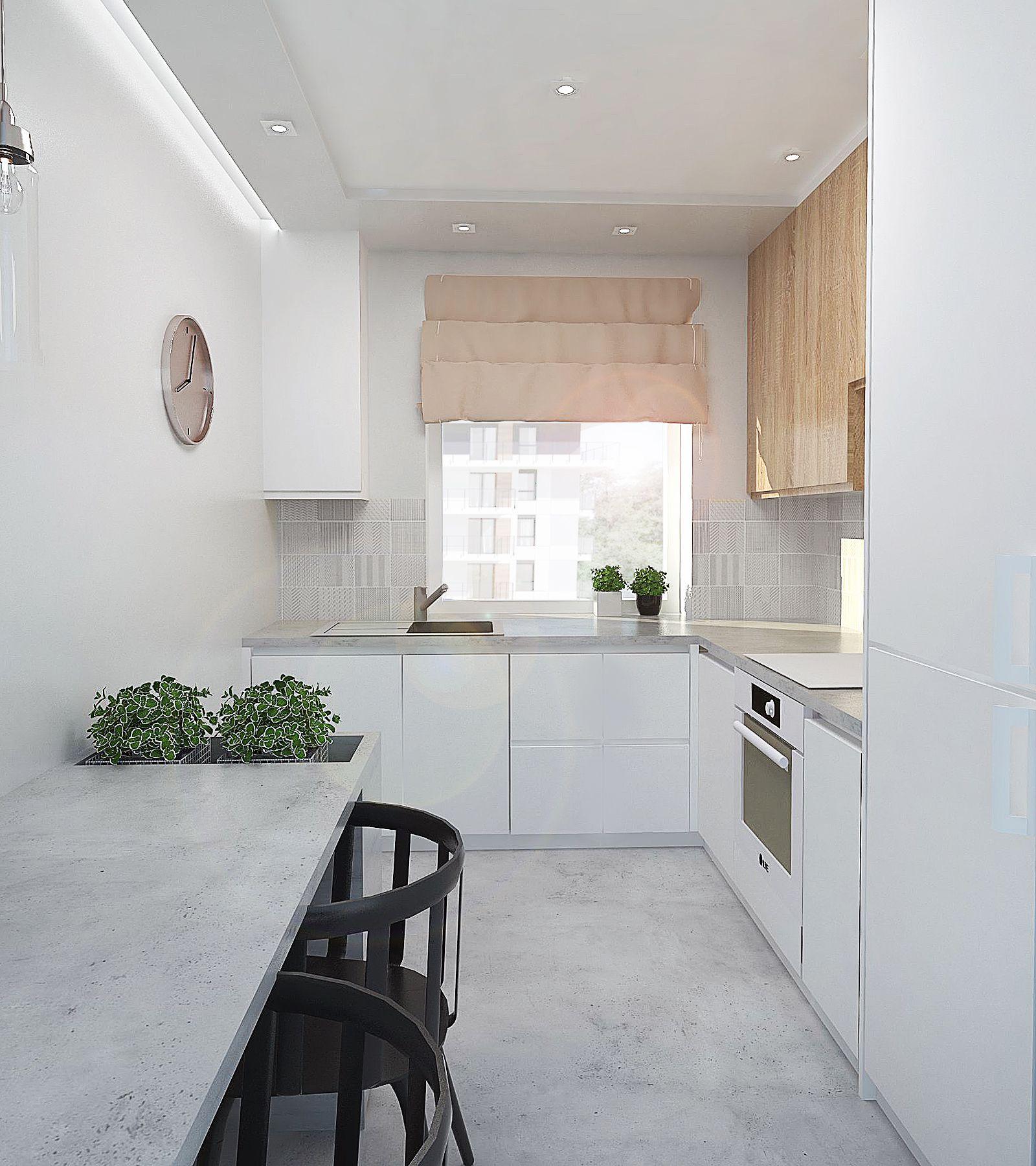 Kuchnia Na Wymiar Kuchnia Biala Kuchnia Biala Z Drewnem Skandynawski Styl Beton W Kuchni Kitchen Interior Home Decor Interior