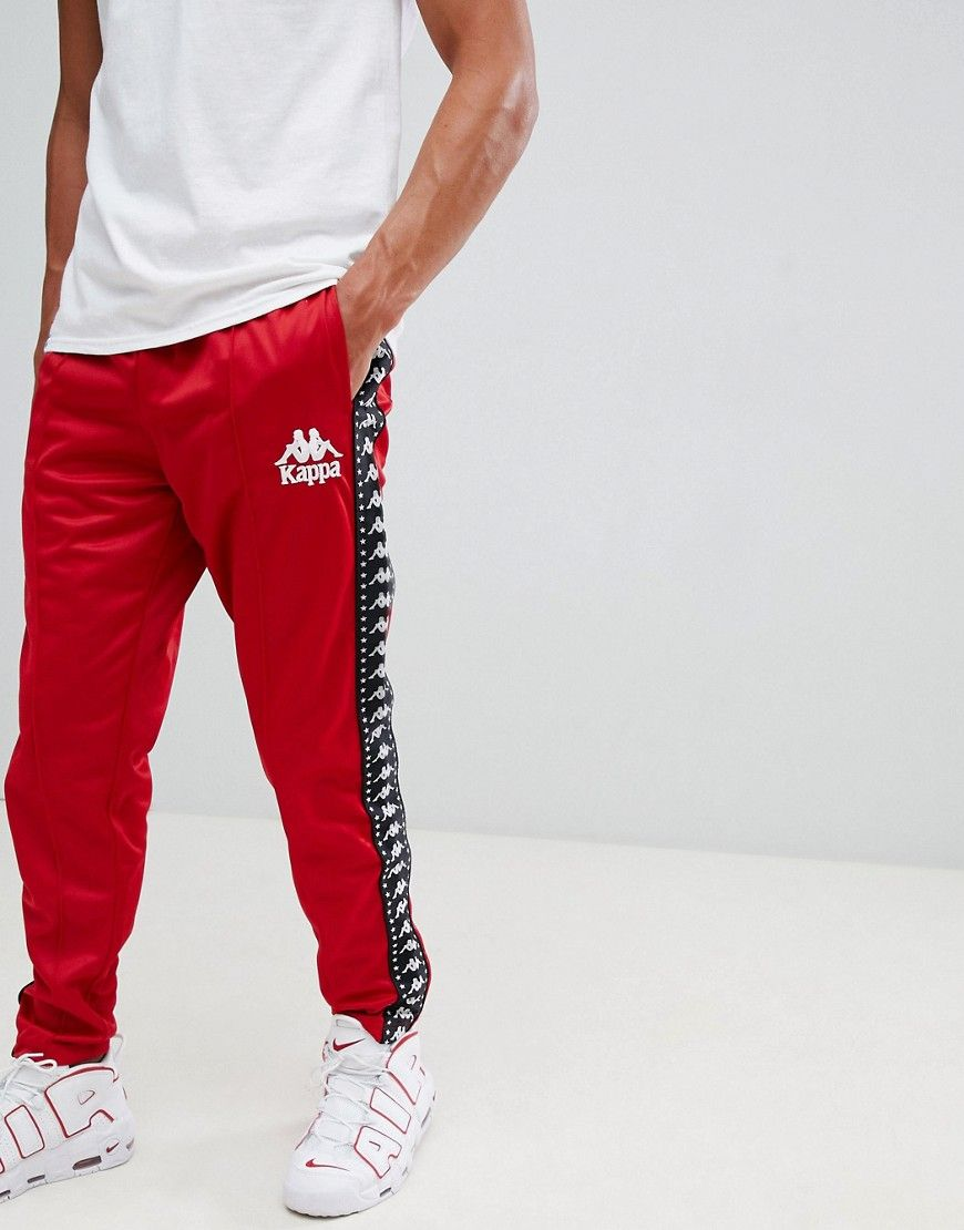 d5238ab83b KAPPA JOGGER WITH LOGO TAPING AND SEAM DETAIL IN RED - RED. #kappa ...