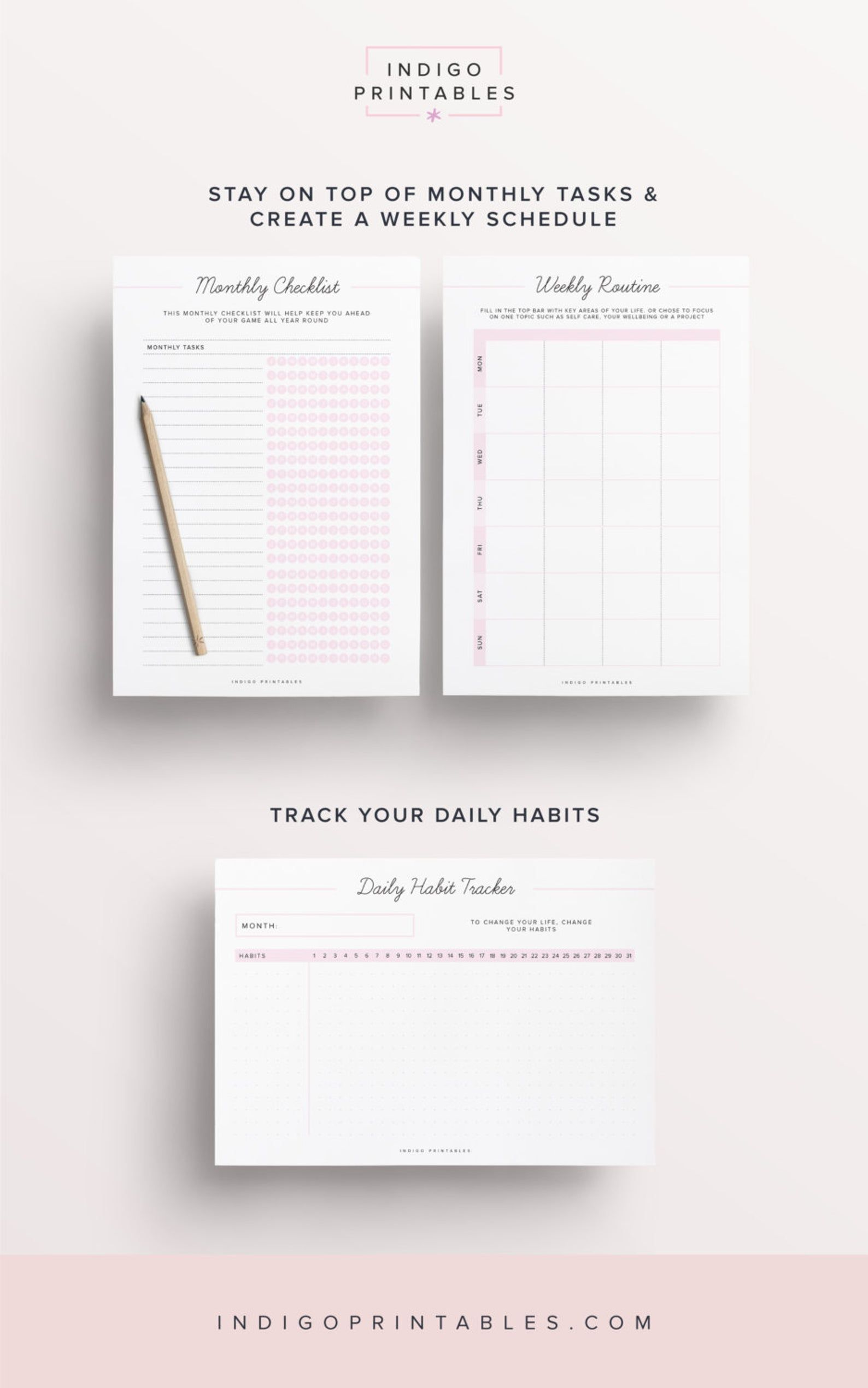 Daily Routine Planner Routine Chart Morning Routine