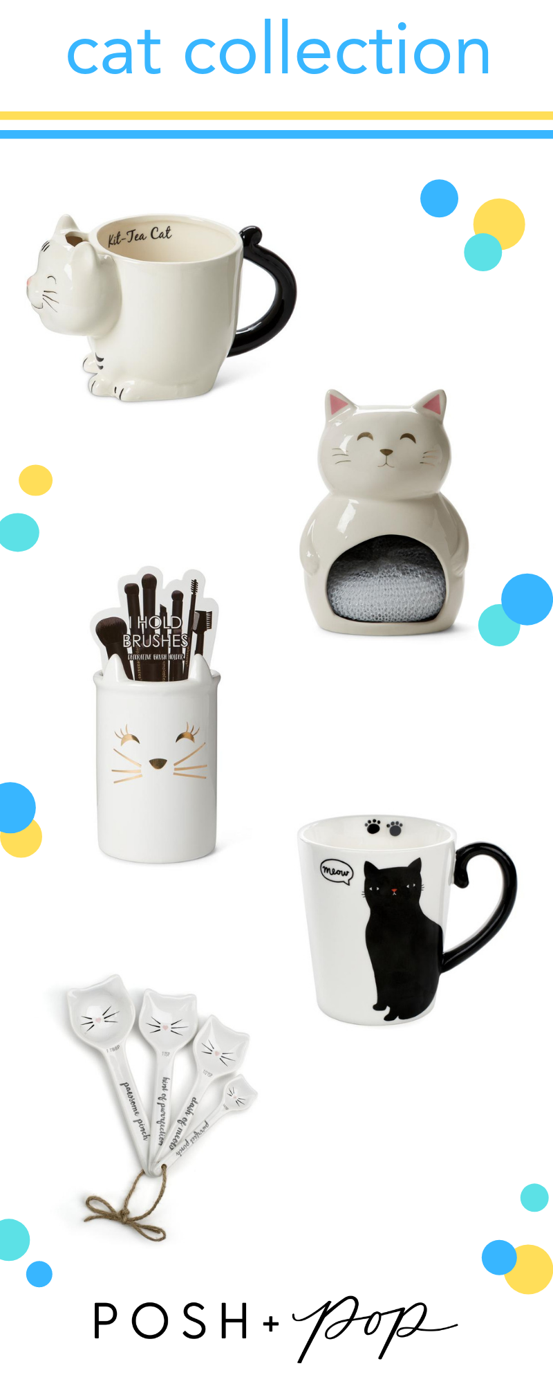 Cat Themed Gifts From Posh Pop Gifts Giftideas Giftsforgirls Catgifts Cat Themed Gifts Cat Lady Gift Cat Lover Gifts