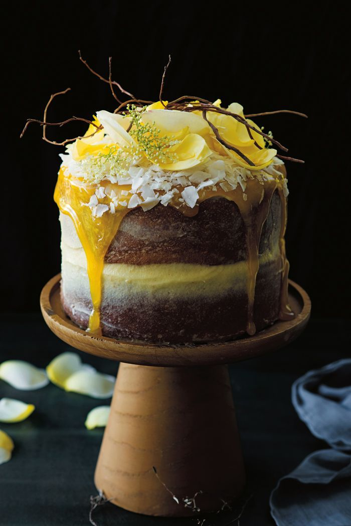 Delicious Naked Wedding Cakes Coconut and Limoncello Cake Recipe