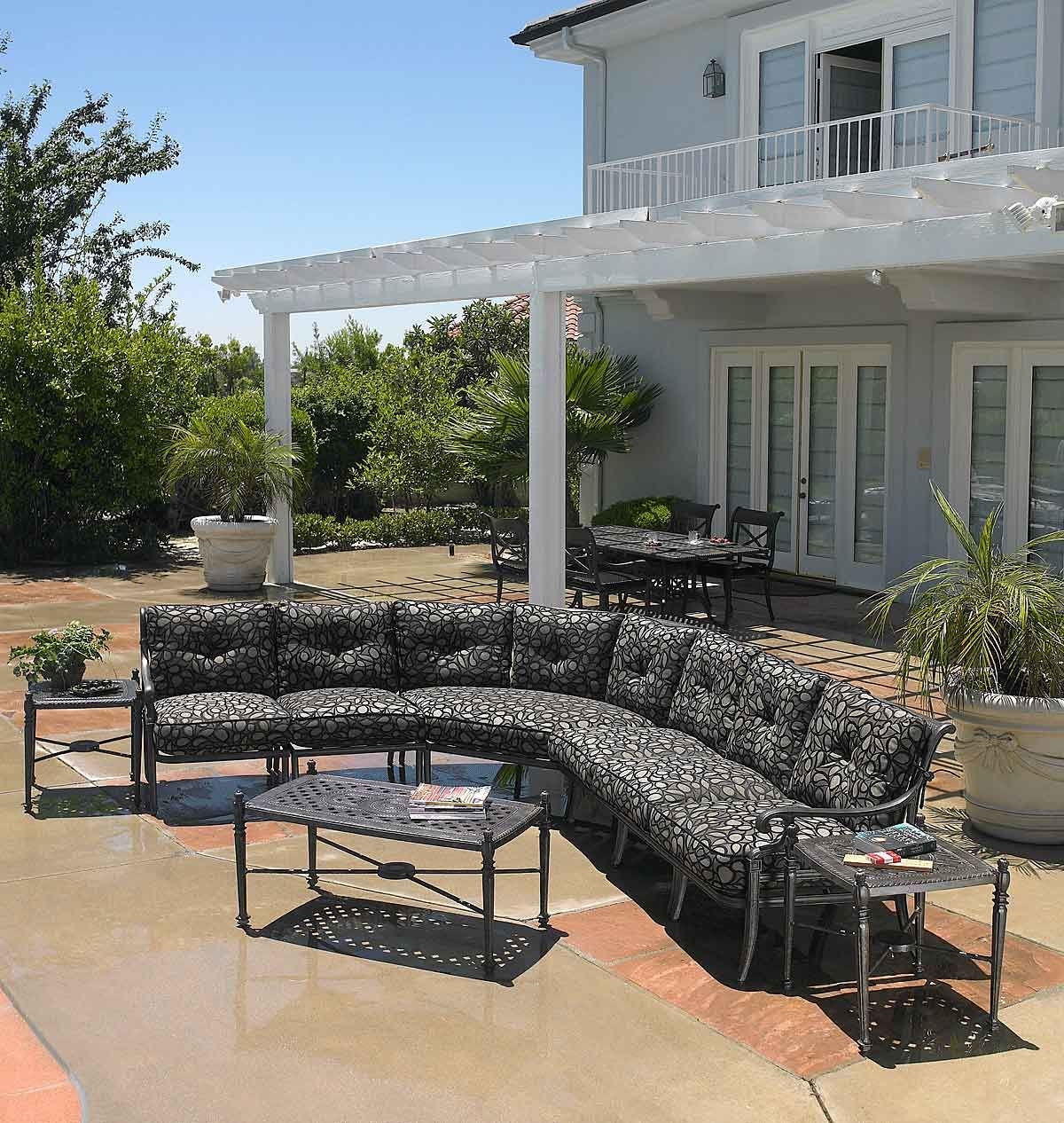 Outdoor sectional by Gensun Casual Living | Outdoor chaise ...