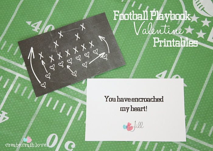 50 free printable valentines cards that arent corny - Football Valentine Cards