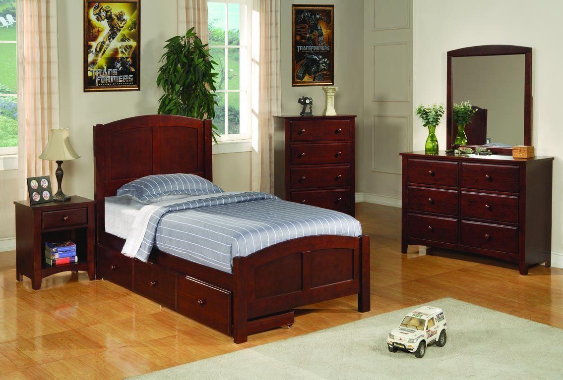 Traditional Cappuccino Kids Bedrooms Set Bedroom Furniture Sets