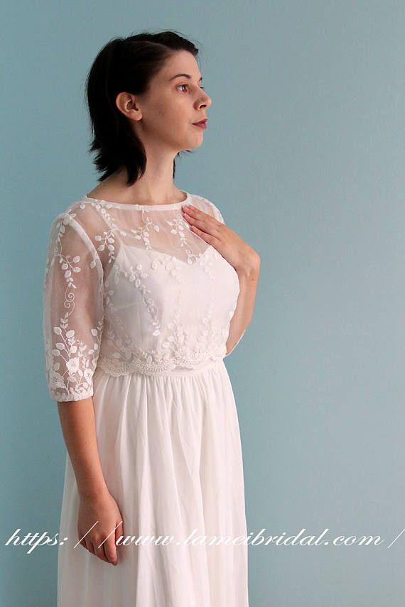 Exquisite1970\'s Paris Inspired Ivory White Vintage-Style Wedding ...