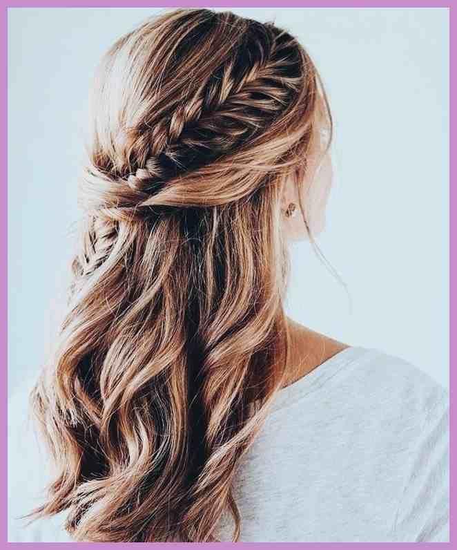 Offen Und Geflochten Fur Die Hochzeit Wedding Frisur In 2019 T75 Es Gibt Ideen Uber Einfache H Hochzeitsfrisuren Haare Hochzeit Brautjungfernfrisuren