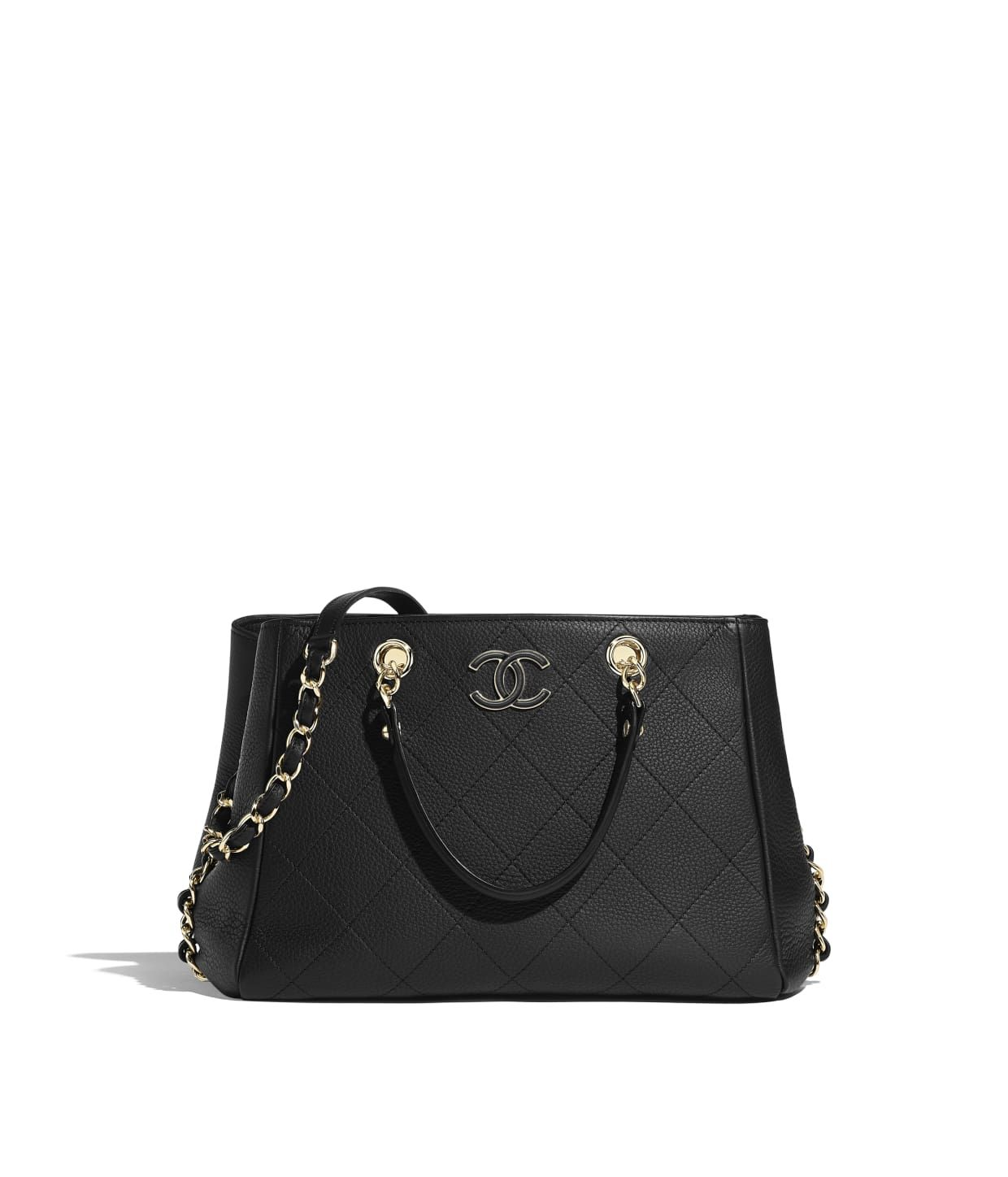 4fd14b47a4f7 Discover the CHANEL Bullskin & Gold-Tone Metal Black Small Shopping Bag,  and explore the artistry and craftsmanship of the House of CHANEL.