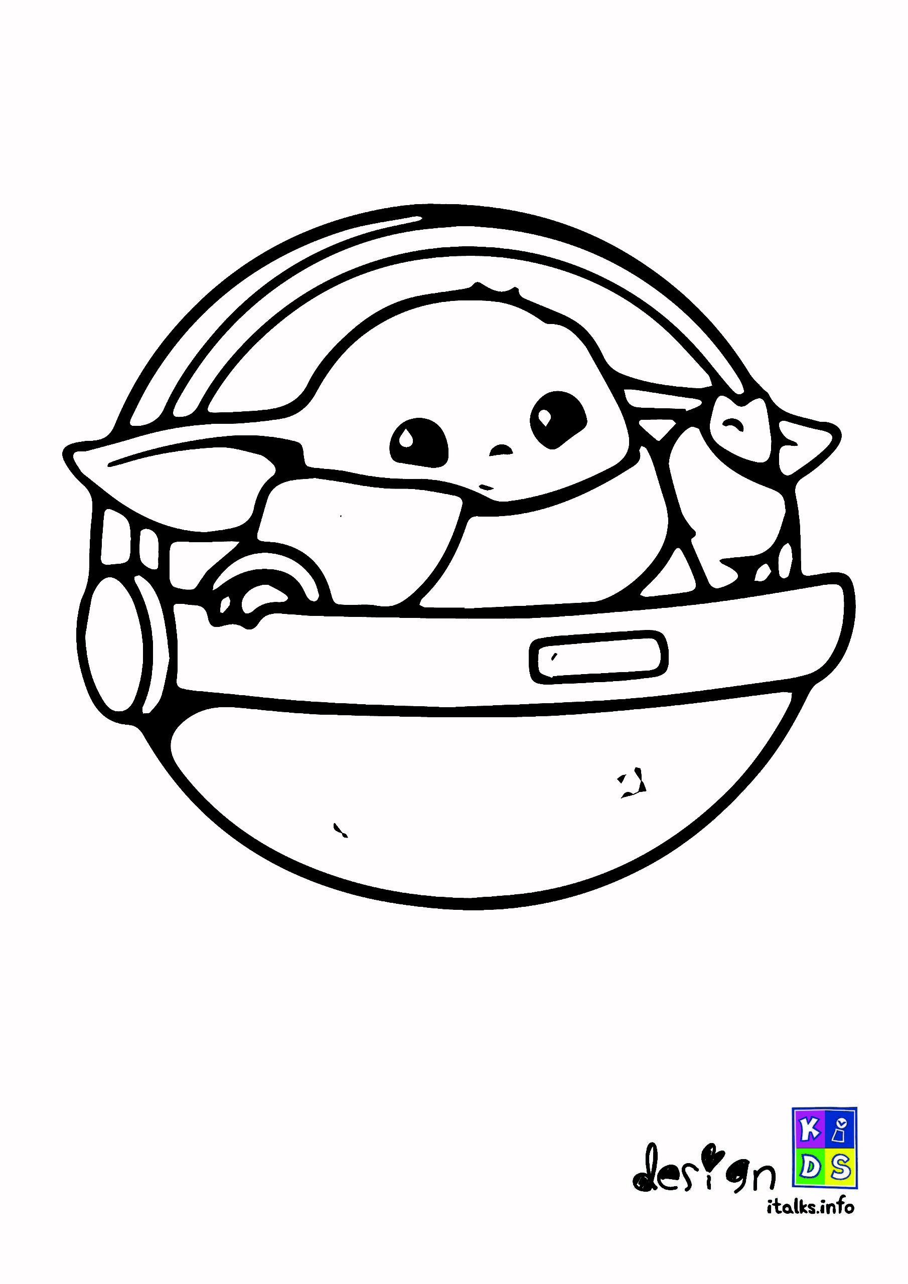 Baby Yoda Coloring Page Cute In 2021 Coloring Pages Coloring Books Cute Wallpapers
