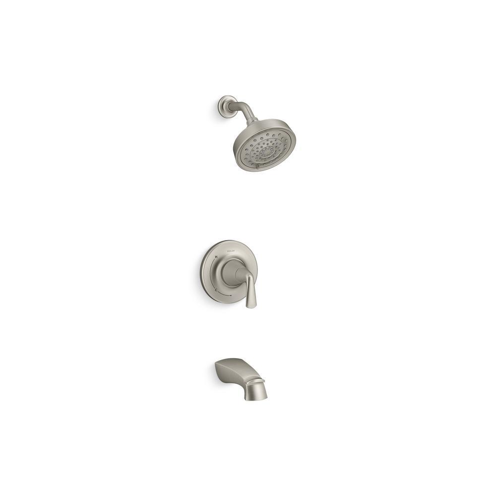 Kohler Elmbrook 1 Handle 3 Spray Tub And Shower Faucet In Brushed