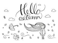 Krijtstift raamtekening Herfst - Illustratie Waai lekker mee met deze krijtstift raamtekening voor een top herfstgevoel. #fensterbilderherbst