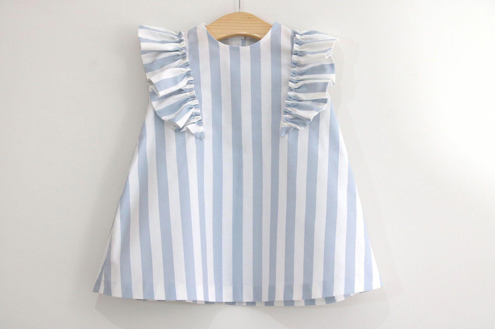 Costura: Vestido con volantes para niñas (patrones gratis talla ...