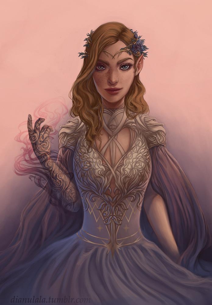 High Lady Feyre Art Print by dianulala - X-Small