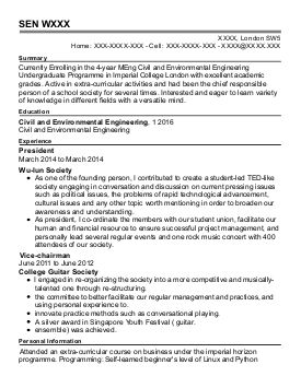 Chemical Engineers Cv Examples  Engineering CvS  Livecareer