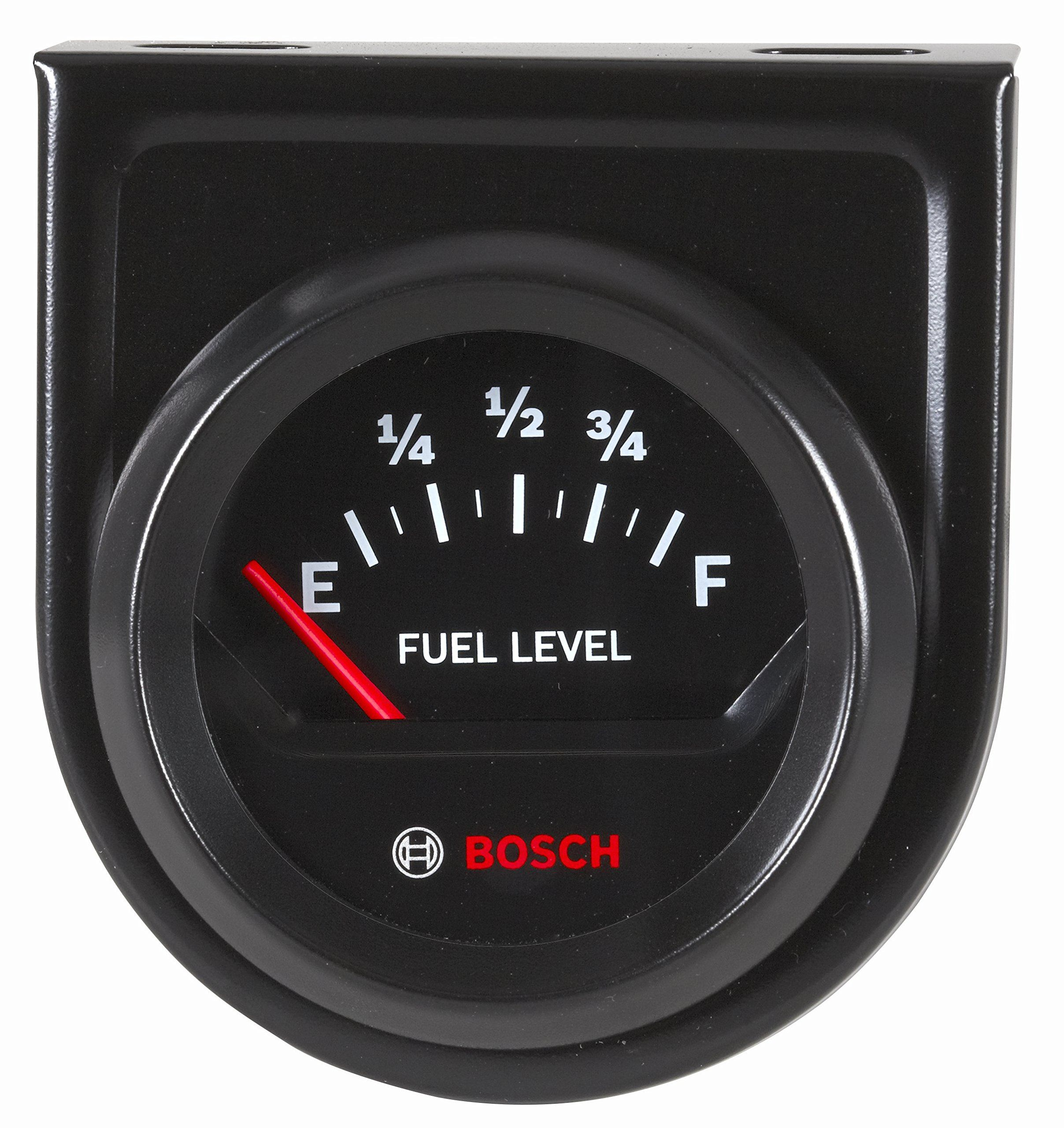 1895 Bosch Sp0f000056 Style Line 2 Electrical Fuel Level Gauge Tachometer Wiring Black Dial Face Bezel