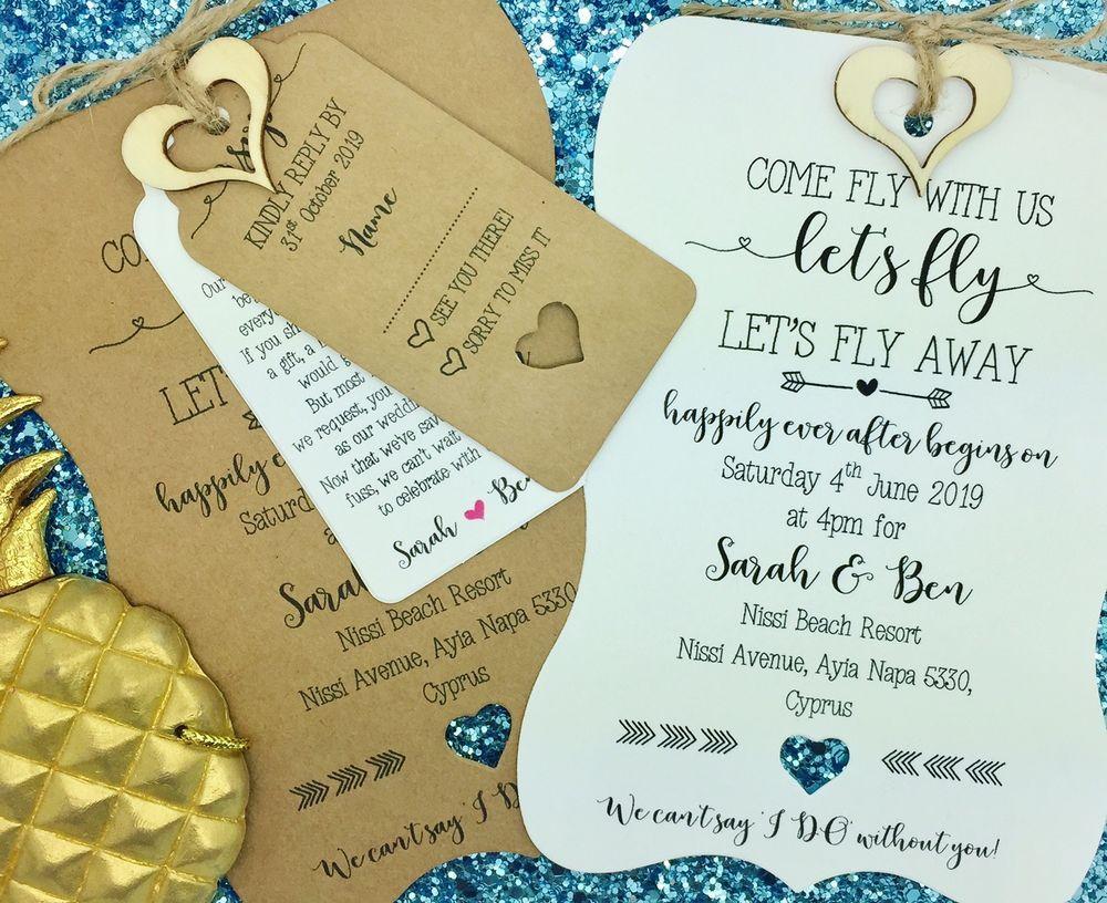Destination Wedding Invitation, Travel wedding, Wedding Abroad ...