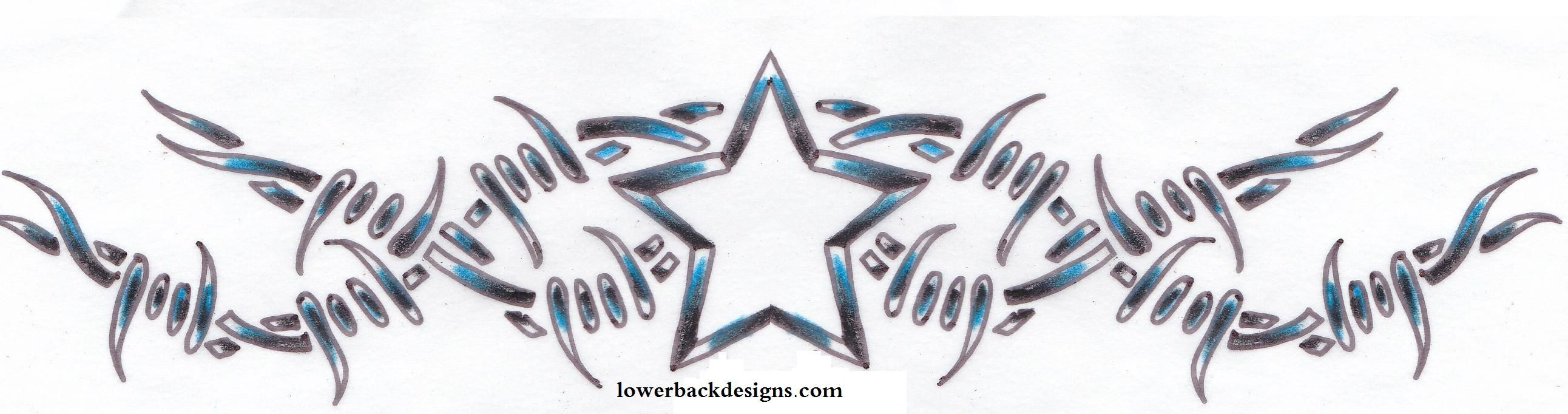 barb wire cross tattoo design | ... tattoo,star tattoo,star barbwire ...