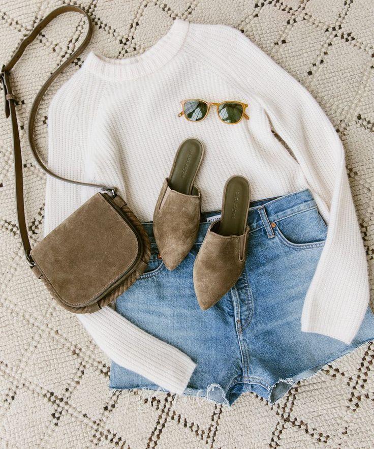 Cashmere Fisherman Sweater – Ivory | Jenni Kayne