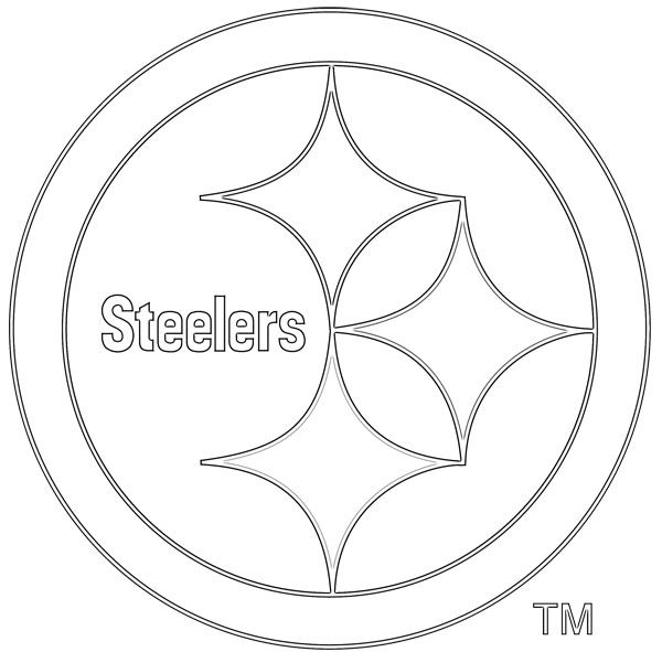 sports coloring pages sports team logos coloring pages kids coloring pages - Steelers Coloring Pages