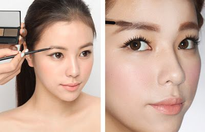 How To Korean Idol Eyebrows Stylenanda Korean Natural Makeup Lighten Eyebrows Hair And Makeup Tips