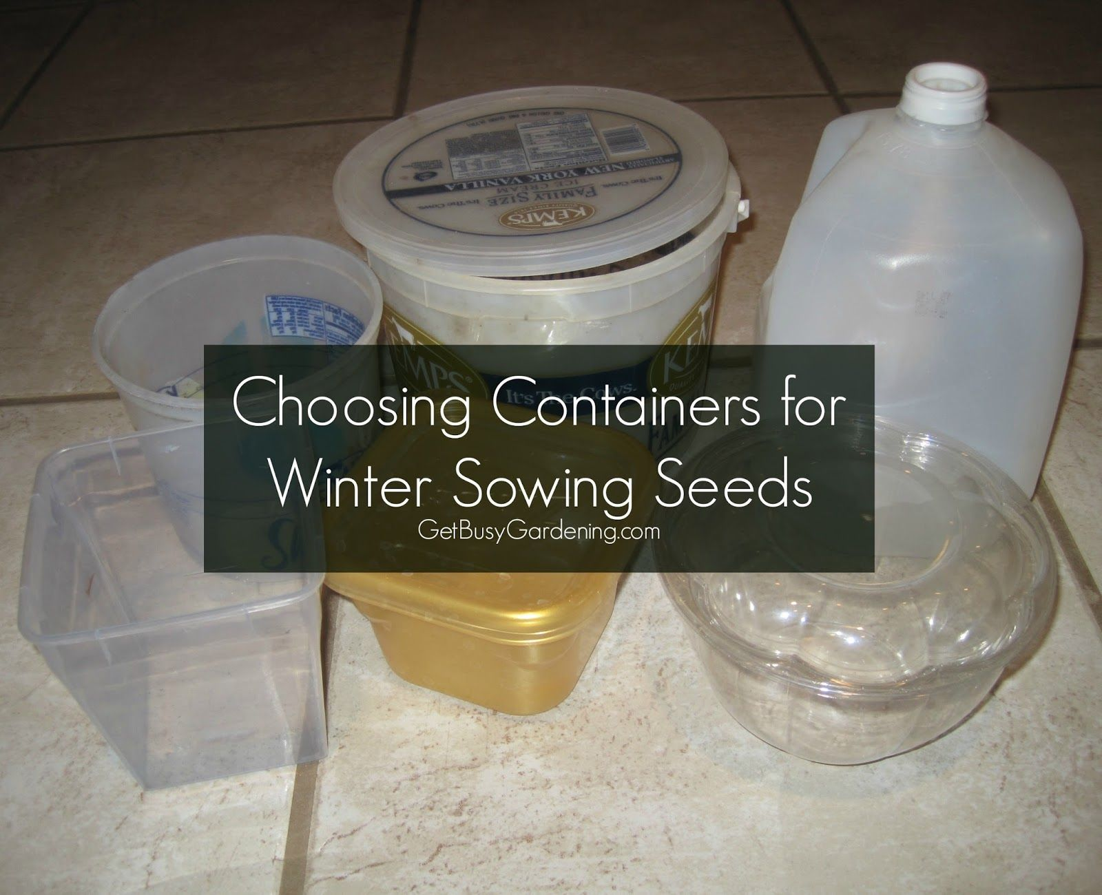 choosing winter sowing containers seeds plants and gardens