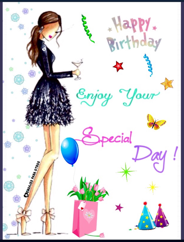 Disfruta tu día Feliz Cumpleaños