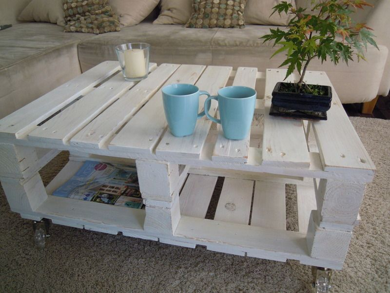 couchtisch shabby chic palettentisch warehouse shabby. Black Bedroom Furniture Sets. Home Design Ideas