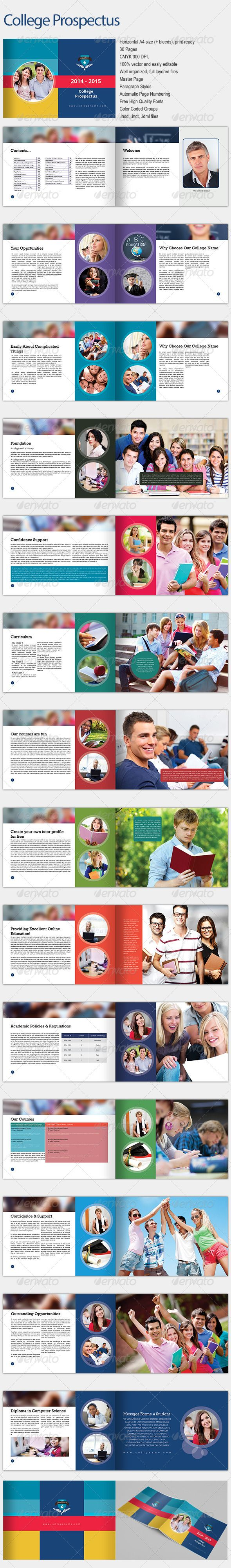 College Prospectus  College Adobe Indesign And Brochures