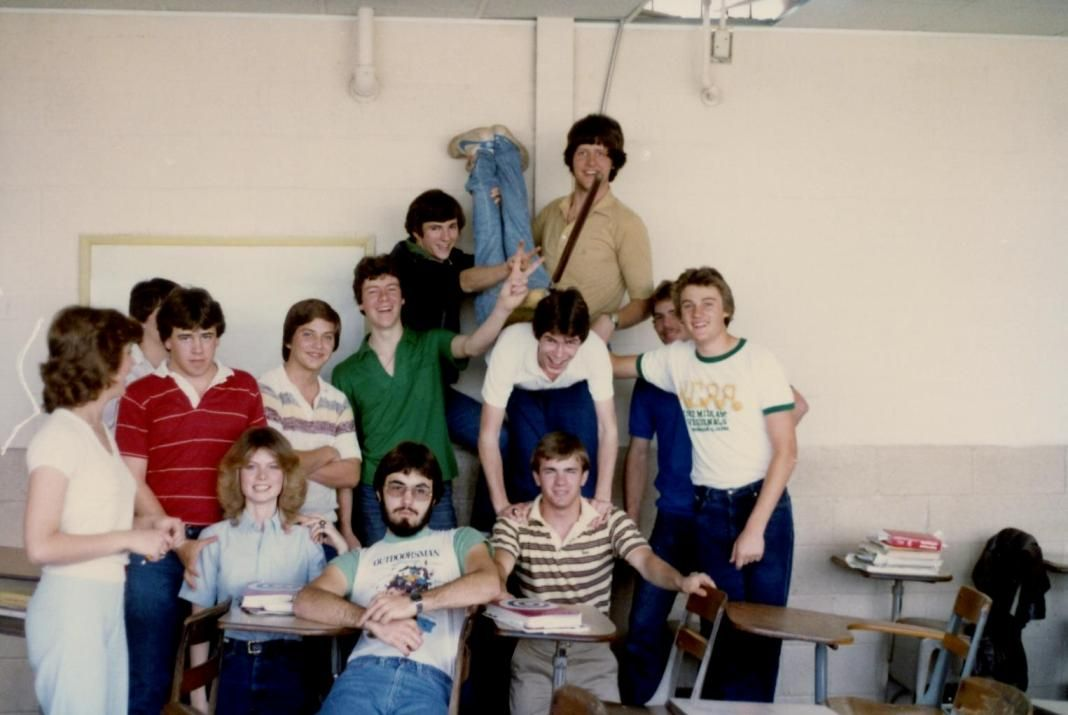 Eric (upside down), Glencoe High School, 1982
