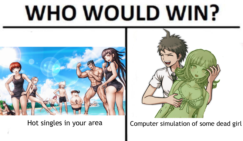 Who Would Win Meme Hinanami Edition Sdr2 Endgame Danganronpa Danganronpa Funny Winning Meme Danganronpa