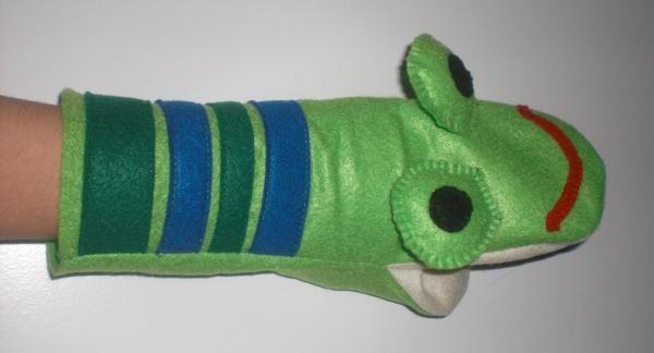 Nähanleitung: Handpuppe - Frosch | Kostenlose Nähanleitungen ...