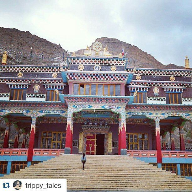 #Repost @trippy_tales with @repostapp Get featured by tagging your post with #talestreet Stairway to heaven.. Monastery in Kaza Spiti  #spiti #himachalpictures #Himalayas #monastery #travelog #_soi #mountains #wilderness #wanderlust #peace #serenity  #spiti #twitter #himachal #incredibleindia #hills #kaza #mountaineering #travellove #explore